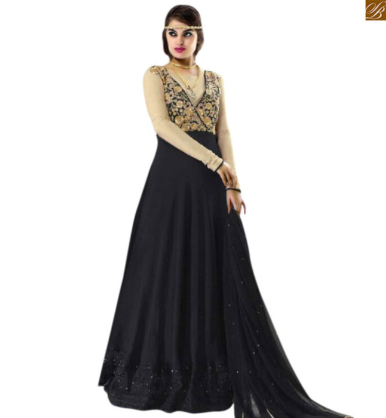 ANARKALI SALWAR KAMEEZ FROCK STYLE INSPIRED BY BOLLYWOOD FASHION, LONG FROCK STYLE STUNNING PARTY-WEAR ANARKALI SALWAR KAMEEZ DESIGN INSPIRED BY BOLLYWOOD FASHION