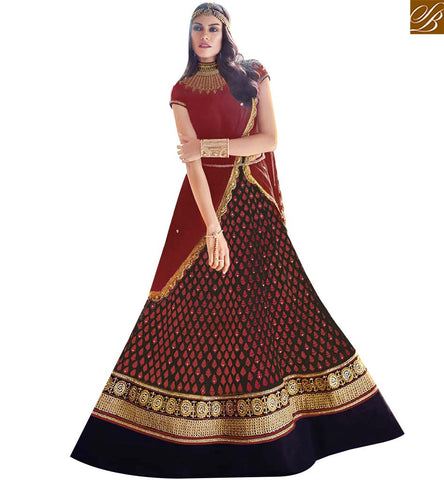 STYLISH BAZAAR MAJESTIC MAROON GEORGETTE PARTY WEAR ANARKALI DESIGNER SUIT FLCE7383