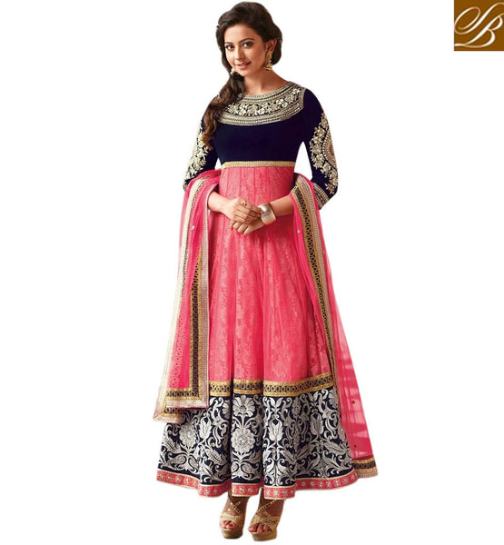 PINK NET RAKUL PREET SINGH ANARKALI DRESS FLRP7288 - STYLISHBAZAAR - DESIGNER  BOLLYWOOD COLLECTION - latest designer salwar kameez, anarkali salwar kameez  online| Jinaam Dresses | Floral Dresses | Long Anarkali