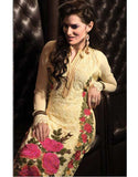pink floral embroidery salwar suit