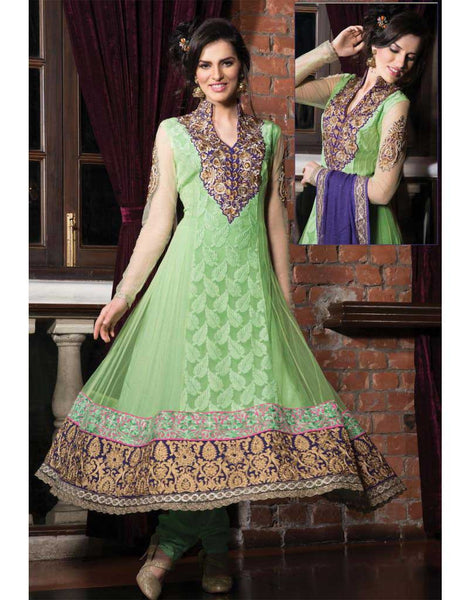 heavy anarkali suits online shopping india