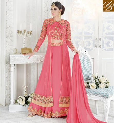 STYLISH BAZAAR Shop Pink designer lehenga choli Special Eid dresses for women online GLSPH7213
