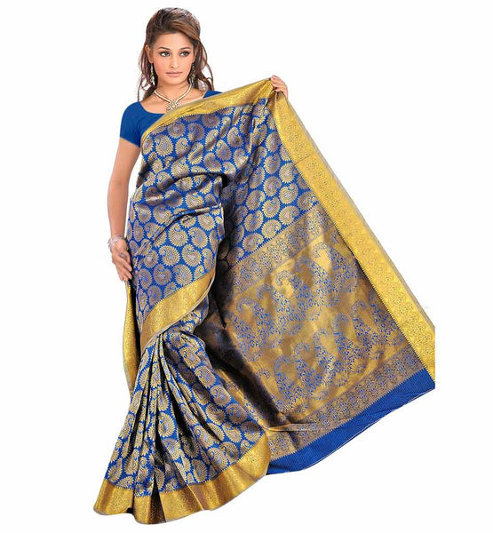 STYLISH BAZAAR STUNNIG ECO FRIENDLY KANJIVARAM ART SILK SARI VWGS4116RB