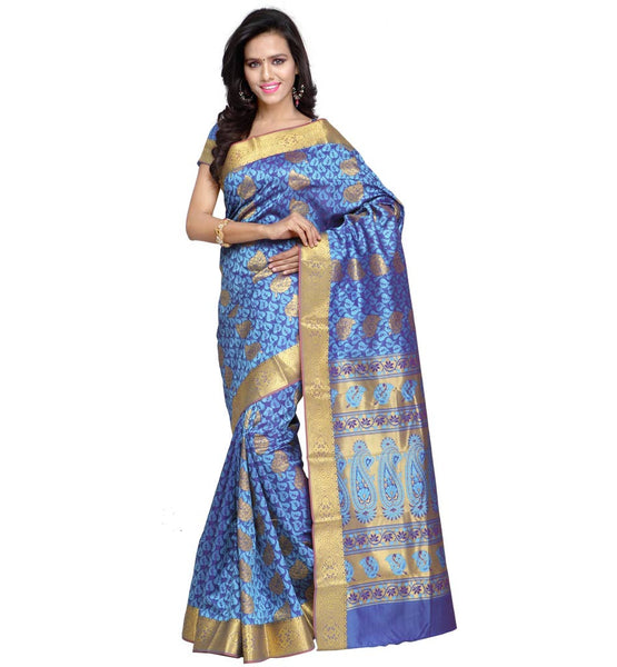 FROM THE HOUSE  OF STYLISH BAZAAR INSPIRING RENOWNED DESIGNER KANJIVARAM ART SILK SAREE VWJB6101