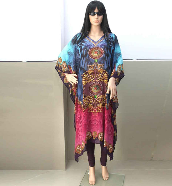 DIGITAL PRINT ARABIC KAFTAN ONLINE SHOPPING FAST WORLDWIDE DELIVERY