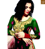 BROUGHT TO YOU BY STYLISH BAZAAR CHARMING GREEN COLOR HEAVILY EMBROIDERED PARTY WEAR PUNJABI DRESS RMKP006