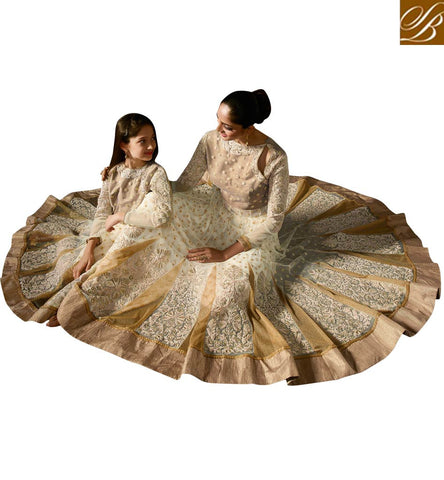 BROUGHT TO YOU BY STYLISH BAZAAR FROM THE HOUSE OF STYLISH BAZAAR LIKE MOTHER LIKE DAUGHTER LATEST WHITE WOMEN GHAGHRA KAMEEZ ONLINE KRM8074
