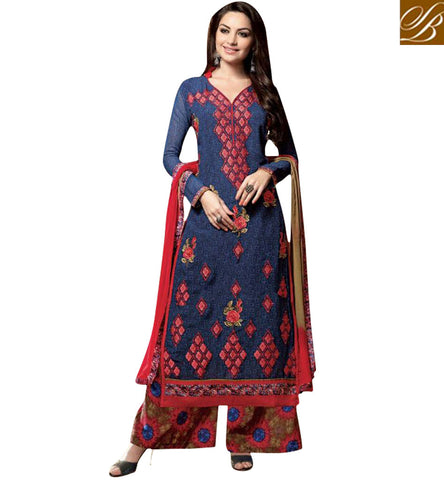STYLISH BAZAAR SHOP BLUE SALWAAR KAMEEZ ONLINE BOUTIQUE COLLECTION OF LATEST STYLISH BAZAAR SALWAAR SET KSMIR1210