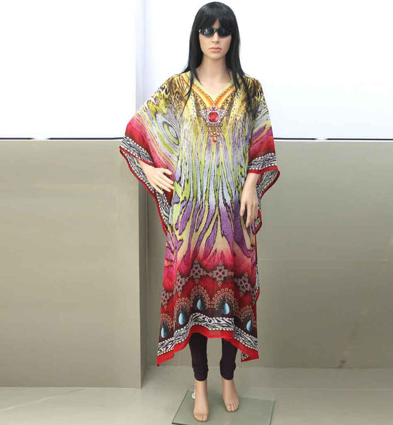SHOP DIGITAL PRINT WOMEN CAFTANS LUXURIOUS CLOTHING AFFORDABLE PRICING