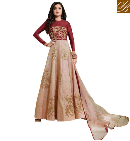 STYLISH BAZAAR SHOP DRASHTI DHAMI AKA GEET IN INDO WESTERN BALL GOWN FOR WOMEN AMAZING BOLLYWOOD COLLECTION LTNT1007