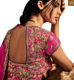 BROUGHT TO YOU BY STYLISH BAZAAR FASCINATING BEIGE AND PINK SILK DESIGNER LEHENGA SAREE HAVING PINK CHIFFON PALLU NKNET5067