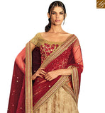 APPEALING BEIGE NET HAVING SUPERB EMBROIDERED LEHENGA SAREE WITH LOVELY WORK BLOUSE NKNET5071