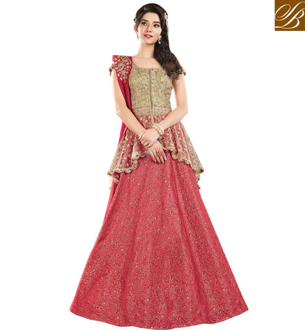 STYLISH BAZAAR APPRECIATING RED JACQUARD SILK HAVING ATTRACTIVE LEHENGA WITH BEAUTIFUL DESIGNED NET CHOLI MHMMY7014