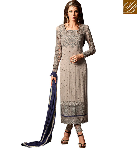 STYLISH BAZAAR BUY PARTYWEAR INDIAN SALWAR KAMEEZ WITH COLOR OPTIONS LATEST WOMEN STRAIGHT SUIT DESIGNS ONLINE MHN34001A