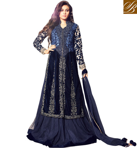STYLISH BAZAAR LATEST MOHINI BLUE INDIAN DULHAN ETHNIC DRESS STYLISH BAZAAR MHN35002