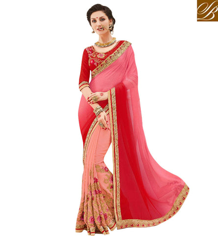 STYLISH BAZAAR BEAUTIFUL GEORGETTE HALF SAREE WITH DESIGNER BLOUSE STYLISH BAZAAR SARI STORE ONLINE FOR WOMEN MNJ47904