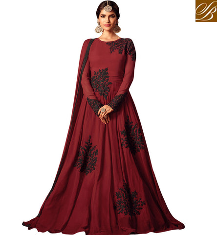 Buy red party wear indo-western gown latest maisha wedding dress online MSH4405
