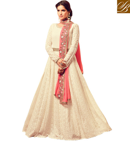 STYLISH BAZAAR Buy white designer women gown latest maisha indo-western dress online MSH4506