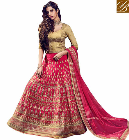 STYLISH BAZAAR ENTICING PINK ROYAL SILK LEHENGA CHOLI QUE ES UN LEHENGA CHOLI FOR WOMEN GHAGRA SAREE ONLINE CHOLI SUIT NKBRC10008