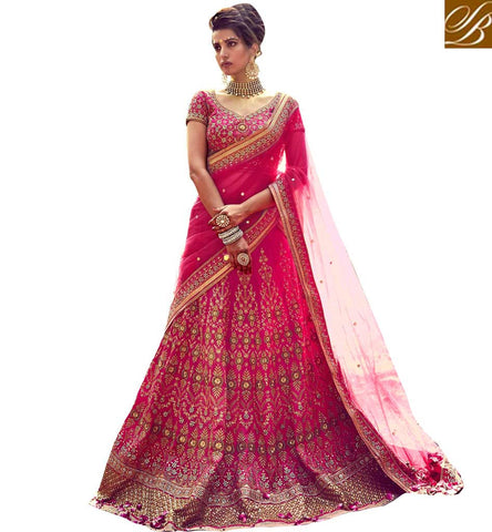 STYLISH BAZAAR FASCINATING DESIGNER SILK LEHENGA CHOLI GHAGRA SAREE INDIAN WEDDING LEHENGA CHANIYA CHOLI FOR BRIDE COLLECTION NKBRC10010