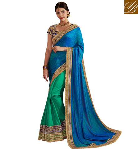 STYLISH BAZAAR BUY GORGEOUS SILK BEST SAREES ONLINE HALF SAREES ONLINE SHOPPING COLLECTION OF SILK WEDDING SAREE COLLECTION NKEMB4057