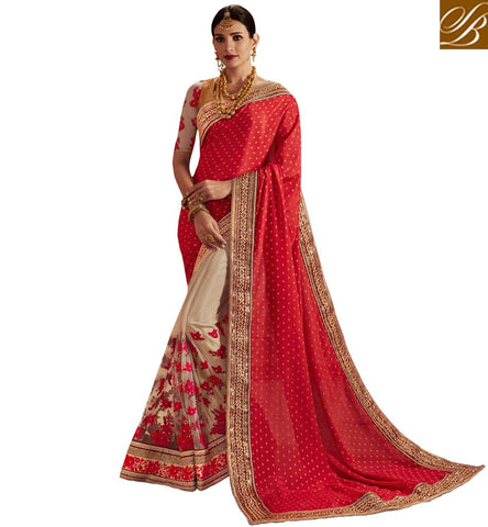 BUY FASHIONABLE ONLINE BOLLYWOOD SAREE STYLISH BAZAAR SILK SAREE STORE COLLECTION OF BOLLYWOOD SAREE FOR WEDDING NKEMB4062