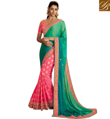 STYLISH BAZAAR ROYAL HALF SAREES SURAT SILK SARIS ONLINE SHOPPING COLLECTION SAREE INDIA ONLINE DESIGNER SARIS SHOPPING IN INDIA NKEMB4063