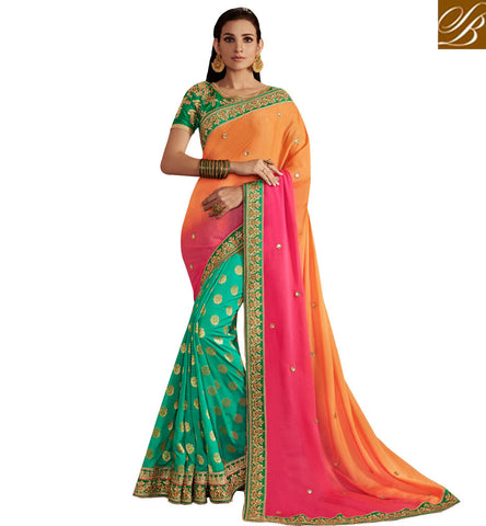 STYLISH BAZAAR PREMIUM SOFT SILK SAREES ONLINE STYLISH BAZAAR BOLLYWOOD DESIGNER SAREE SURAT SARIS HALF SILK SAREES COLLECTION NKEMB4064