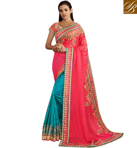 STYLISH BAZAAR DAZZLING SILK BEST HALF SAREE WITH PRICE OF EXPORT QUALITY USA SAREES ONLINE DESIGNER INDIAN SARI NKEMB4067