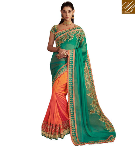 STYLISH BAZAAR ALLURING BOLLYWOOD SILK WEDDING DESIGNER SAREES FOR WOMEN DESIGNER SILK SAREES WITH PRICES D USA ETHNIC DUKAAN NKEMB4068