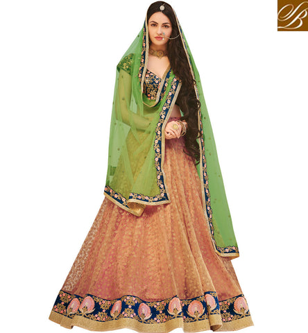 STYLISH BAZAAR SHOP ONLINE LATEST GHAGHRA CHOLI FOR LADIES TRENDY DESIGN FROM ZOYA NAKASHI AT STYLISH BAZAAR NKENH5075