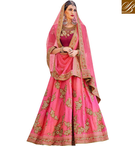 STYLISH BAZAAR SHOP NOW BABY PINK LEHENGA SAREE FOR LADIES ONLINE ZOYA LATEST WEDDING COLLECTION NKENH5077