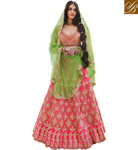 STYLISH BAZAAR BUY LATEST UP-TO-THE-MINUTE ZOYA NAKASHI LEHENGA CHOLI ONLINE FOR GIRLS IN INDIA AND ABROAD NKENH5079