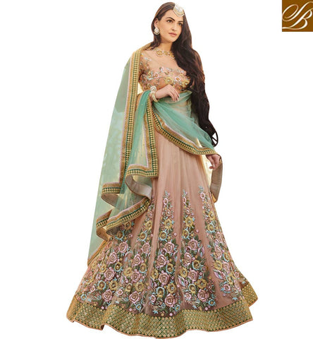 STYLISH BAZAAR AMAZING ROSETTE CHANIYA CHOLI FOR WOMEN IN INDIA AND OVERSEAS FOR WEDDING AND FESTIVALS NKENH5080