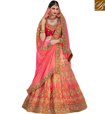 STYLISH BAZAAR SHOP DESIGNER LEHENGA SARI LATEST ZOYA NAKASHI STYLISH BAZAAR ELEGANCE ONLINE FOR LADIES NKENH5082