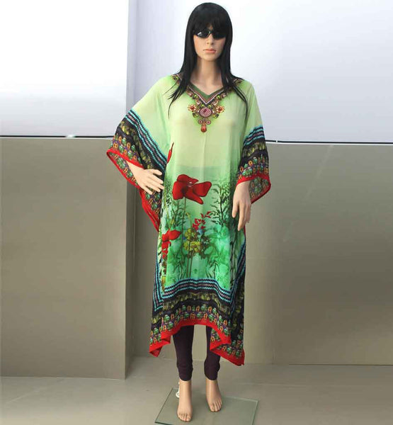 STYLISH BAZAAR HOT DIGITAL PRINT DESIGNER KAFTANS AND TUNICS COLLECTION