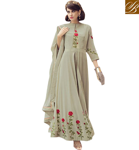 STYLISH BAZAAR BUY NEW INDOWESTERN GOWN STYLE ETHNIC WEDDING AND PARTY WEAR COLLECTION DRESSES ONLINE PFFUS19001