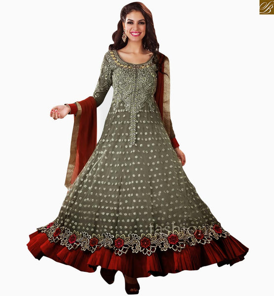 GORGEOUS ANARKALI STYLE DESIGNER SALWAAR KAMEEZ FOR PARTIES RMT31536