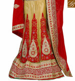 HAVE A LOOK AT HEAVILY EMBROIDERED LEHENGA WITH CONTRAST MARRON AND CREAM DETAILING BROAD LACE PATTERN STYLE YOU WILL LOVE