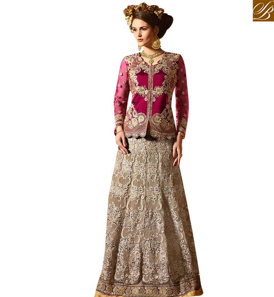 STYLISH BAZAAR ELEGANT WINE BANGLORI SILK DESIGNER HEAVY EMBROIDERED LEHENGA CHOLI WITH GLORIOUS STYLE SLSY68