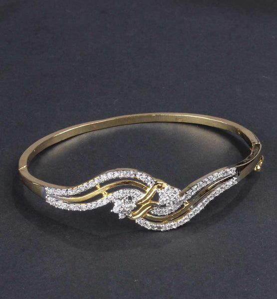 Metallic Bangle with american diamonds