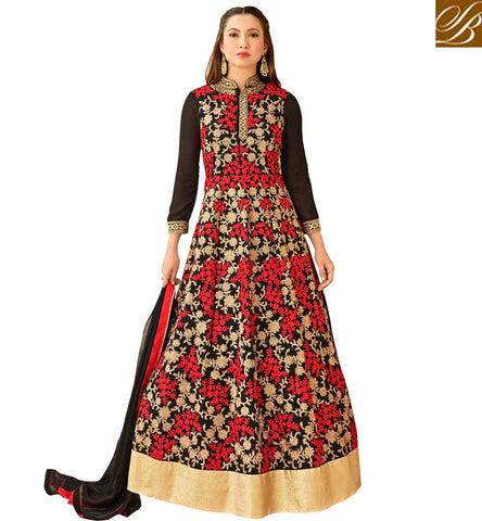 STYLISH BAZAAR ONCE UPON A TIME IN MUMBAI PARDA PARDA SONG DANCER GAUHAR KHAN IN HOT LATEST EVENING GOWN DESIGN OF PUNJABI SUITS LATEST DESIGNER SUITS AND SALWAR SUIT PATTERNS SLAR16014