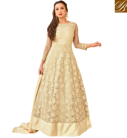 STYLISH BAZAAR GAUHAR KHAN MOVIES AND TV SHOWS ACTRESS IN CINEMA INSPIRED SALWARS DESIGNS DESIGNER ANARKALI SUIT ONLINE SHOPPING SLAR16015