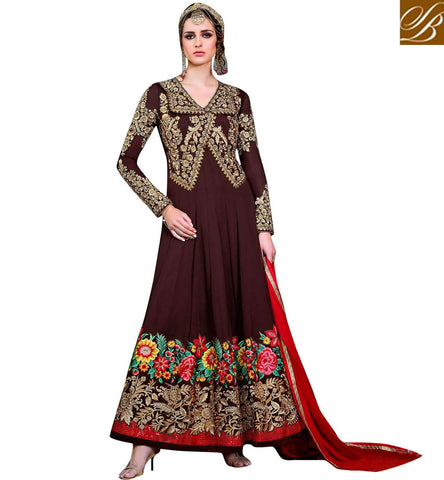 STYLISH BAZAAR BUY NEW JACKET STYLE INDOWESTERN GOWN DRESS FOR WOMEN IN INDIA ONLINE BOUTIQUE DRESSES SLHOT5775
