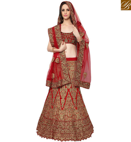 STYLISH BAZAAR ELEGANT MAROON SILK DESIGNER LEHENGA CHOLI HAVING PERSONIFIED EMBROIDERY SLMAN911
