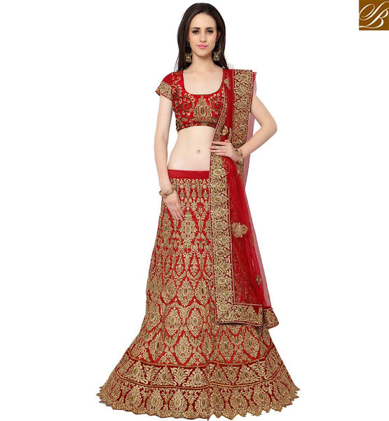 STYLISH BAZAAR INVITING MAROON SILK PARTY WEAR HEAVY EMBROIDERED LEHENGA CHOLI WITH BUTTA AND STONE WORK SLMAN915
