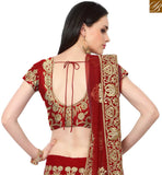 CAPTIVATING MAROON SILK DESIGNER LEHENGA CHOLI WITH THE FULL OF RESHAM EMBROIDERY AND STONE WORK SLMAN917