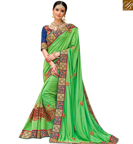 STYLISH BAZAAR SHOP INDIAN TRADITIONAL SILK DESIGNER PARTY WEAR SAREE SLPRG4001