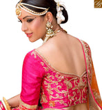 FROM THE HOUSE OF STYLISH BAZAAR ELEGANT RED NET AND SILK DESIGNER PARTY WEAR LEHENGA CHOLI WITH EMBROIDERY SLPRG4013