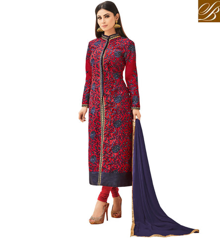 STYLISH BAZAAR BUY LATEST MAUNI ROY DESIGNER STRAIGHT CUT SALWAAR KAMEEZ ONLINE STYLISH BAZAAR BOLLYWOOD FASHION SLSJNG533044